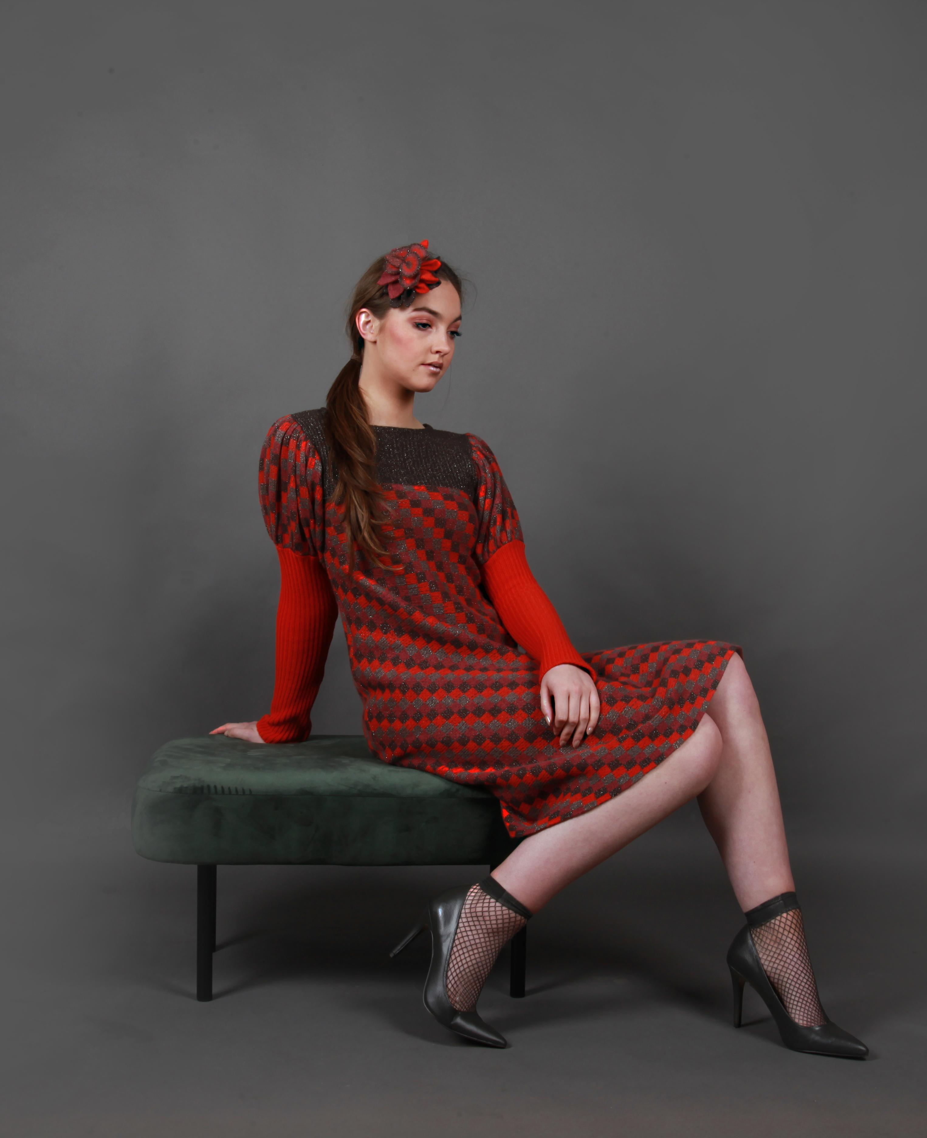 Chequer pattern dress