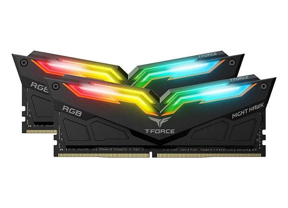 MEMORIA RAM TEAMGROUP NIGHT HAWK RGB 16 GB DDR4 2X8GB 3200MHZ NEGRA TF1D416G3200