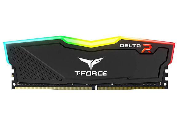 MEMORIA RAM TEAMGROUP T FORCE DELTA 8GB RGB DDR4 3200MHZ NEGRA TF3D48G3200HC16C0