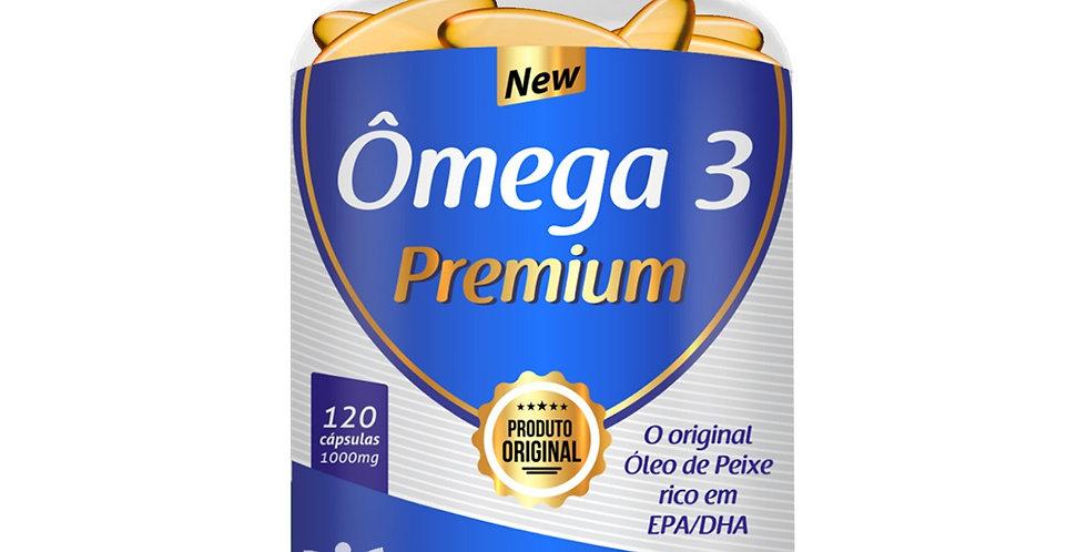 Ômega 3 Premium – O original óleo do peixe rico em EPA/DHA – 120 cápsulas
