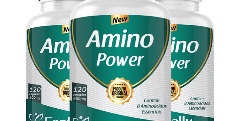 Combo - Amino Power - Contém 8 Aminoácidos essenciais – 120 cápsulas