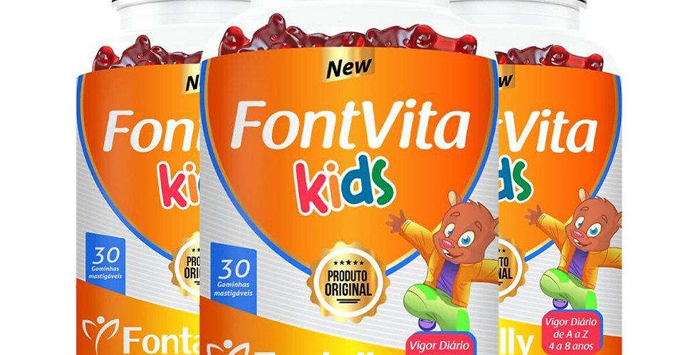 Combo Família - FontVita Kids - Gominhas Tutti Frutti - 30 gominhas