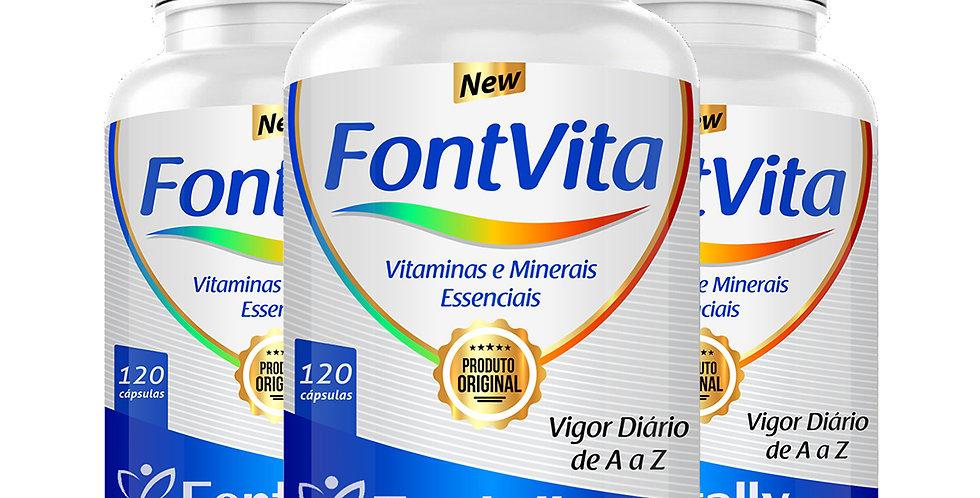 FontVita A a Z – Vitaminas e Minerais essenciais – 120 cápsulas