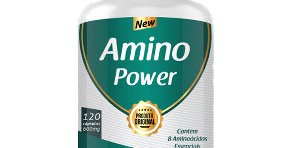 Amino Power – Contém 8 Aminoácidos essenciais – 120 cápsulas