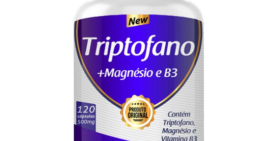 Triptofano + Magnésio e Vitamina B3 – 120 cápsulas