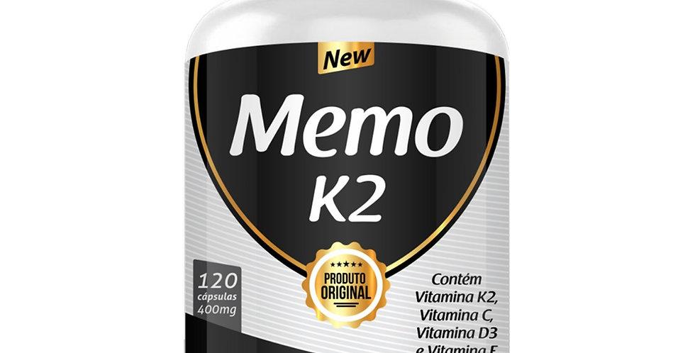 Memo K2 – Contém Vitamina K2, C, D3 – 120 cápsulas