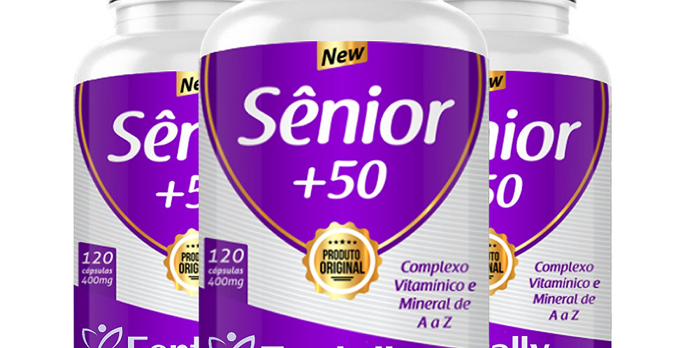 Sênior+50 – Complexo vitamínico e mineral de A a Z – 120 cápsulas