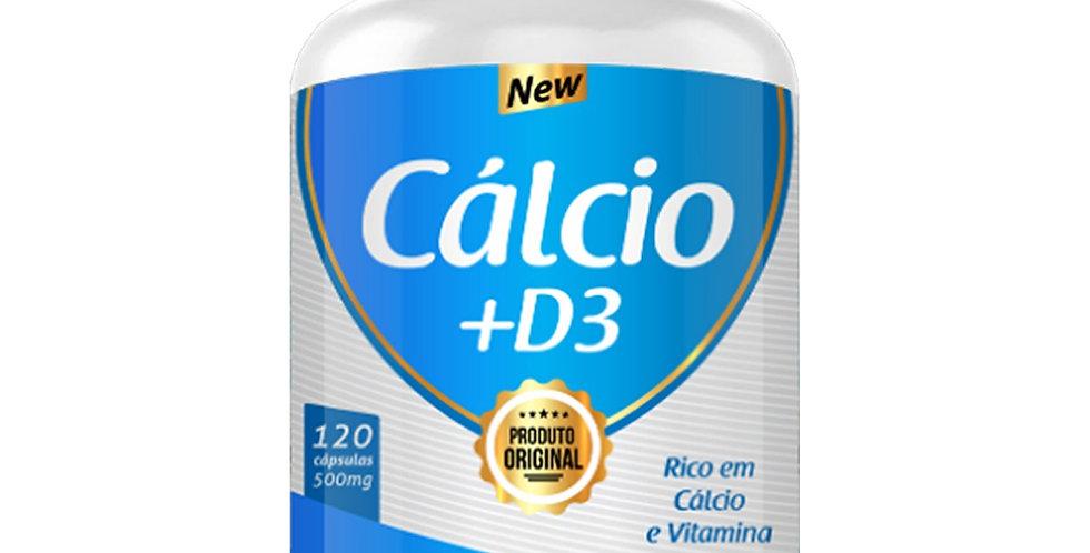 Cálcio +D3 – Rico em cálcio e vitamina D3 – 120 cápsulas
