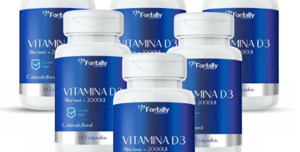 Combo Família - Vitamina D3 – Colecalciferol – 60 cápsulas