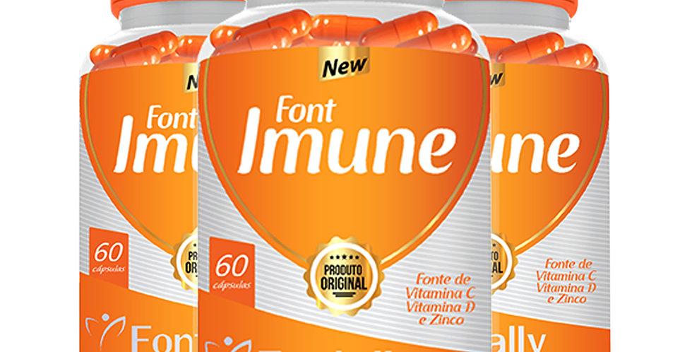 FontImune – Fonte de vitamina C, D e zinco – 60 cápsulas