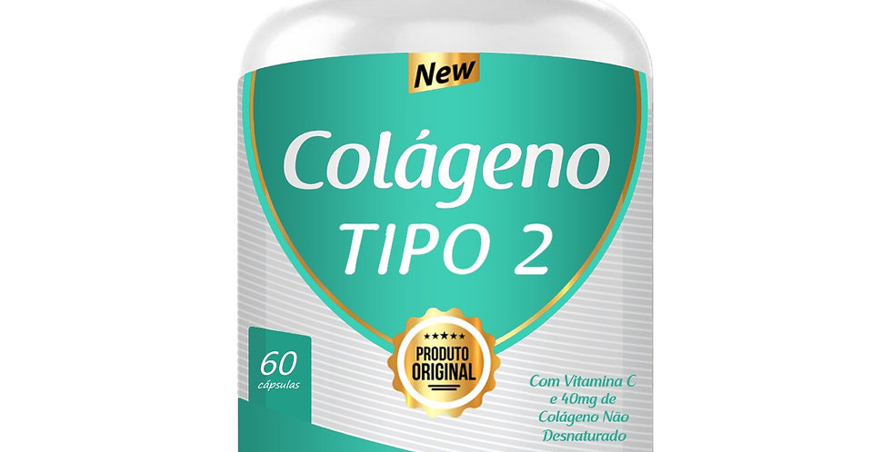 Colágeno Tipo 2 – Com vitamina C – 60 cápsulas