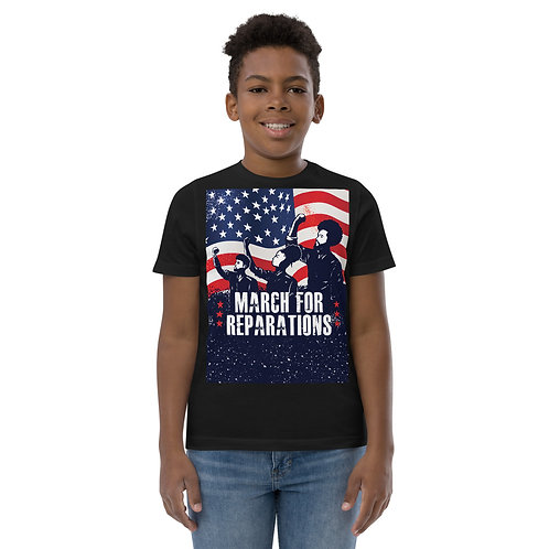 March For Reparations Youth 100% Premium Cotton Short-Sleeve Unisex T-Shirt