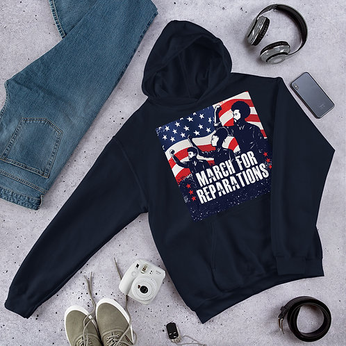March For Reparations 100% Premium Cotton Short-Sleeve Unisex Hoodie