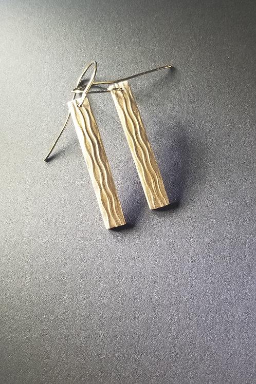 Bronze Ripple Earrings