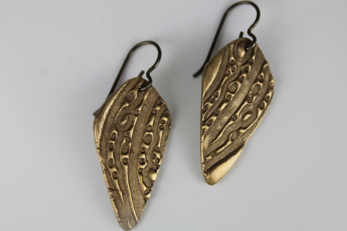 Bronze Oblong Earrings