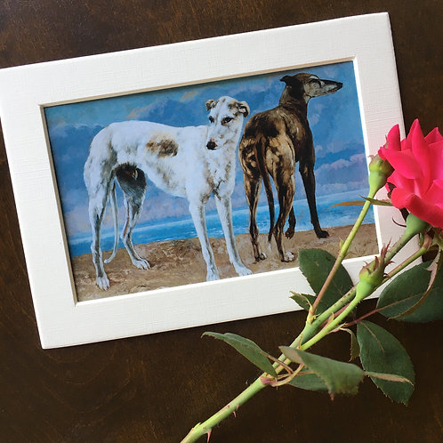 Greyhounds by the Sea print
