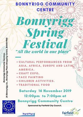 BONNYRIGG SPRING FESTIVAL UPDATE NOV 201