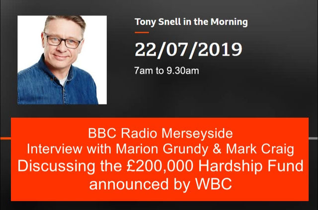 WBC formally announce the hardship fund