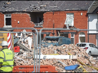 Homes Destroyed in Underley Terrace