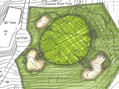 Harvey completes green redesigns on two holes at Milbrook Club