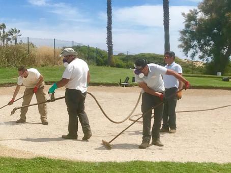 Mafer Golf finaliza la renovación de los bunkers del Campo Mar & Pinos en el Real Club de Golf N