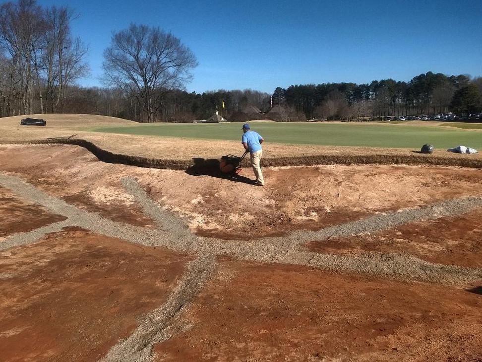 Bunker prep for gravel installation
