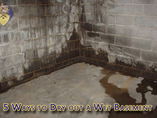 5 Ways to Dry out a Wet Basement