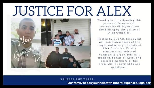 Alex Gonzales Justice for Alex Video Pre