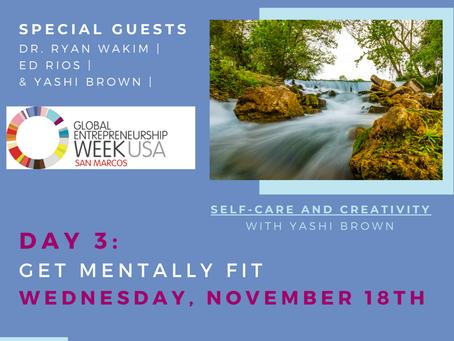 Total Health for Entrepreneurs Day 3: Wednesday: Get Mentally Fit #GEWSMTXMentallyFit