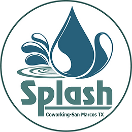 splash co-working logo_with circle_white