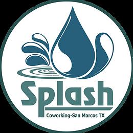 splash co-working logo_with circle_white