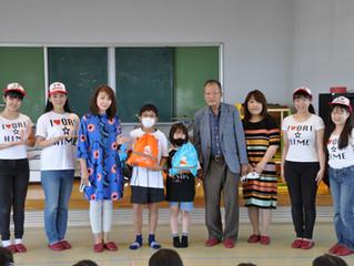 福島県相馬市児童へ非常用避難リュック300個寄付