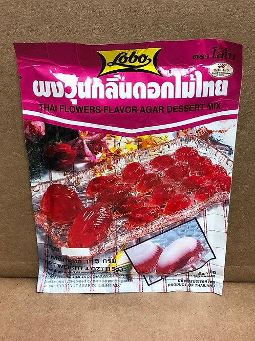 lobo thai flower agar ผงวุ้นดอกไม้ไทย
