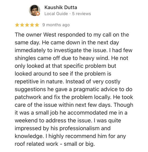 Kaushik D. Review