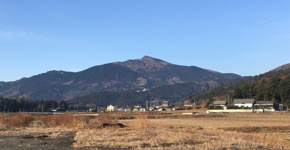 冬の筑波山