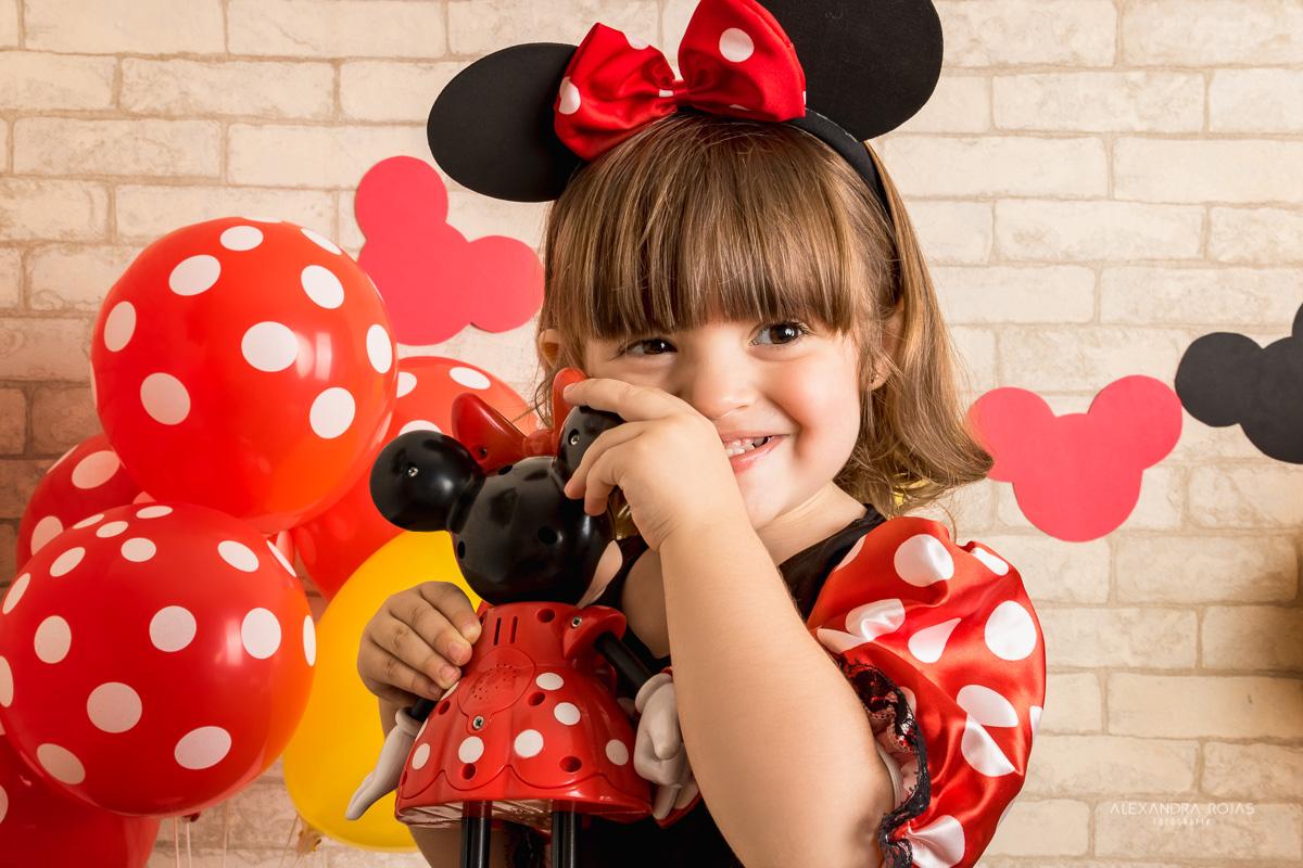 Ensaio Infantil Minnie Estúdio