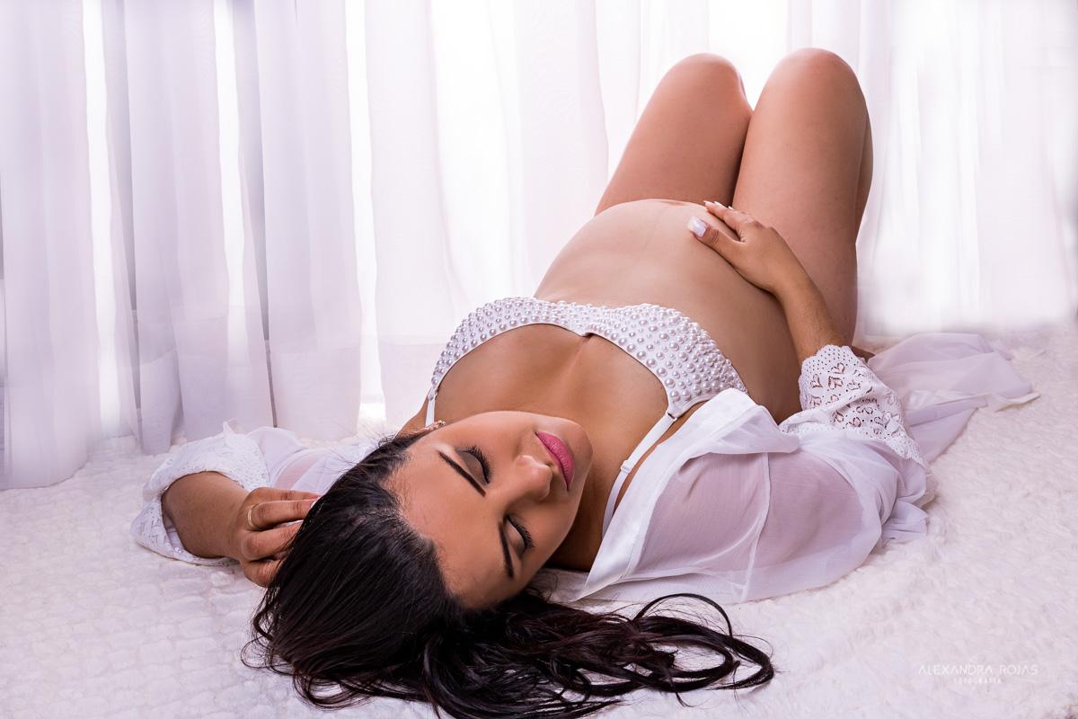ensaio gestante sensual