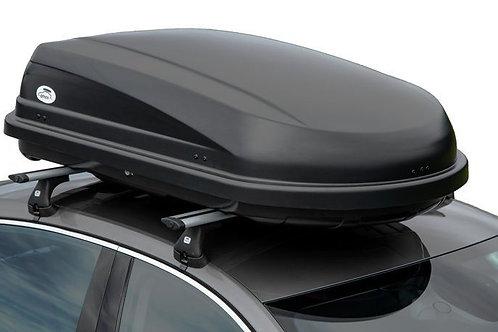 Stogo bagažinė AMOS BOX TRAVEL PACK 400 juoda matinė