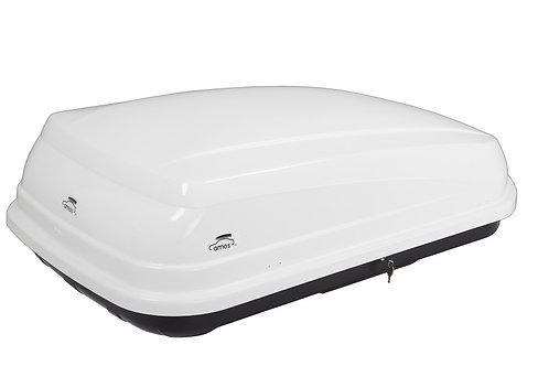 Stogo bagažinė AMOS BOX TRAVEL PACK 400 balta
