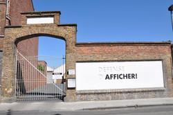 Défense d'afficher_Werfstraat Brugge