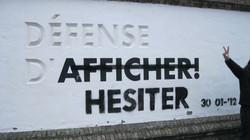 Défense d'afficher_Défense d'hesiter