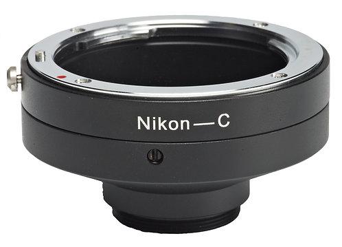 Nikon to C mount lens adapter
