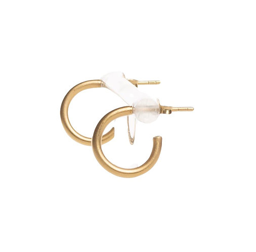 Hoop Studs small gold