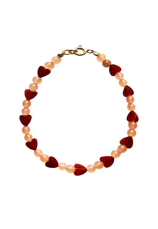 Heart Bracelet red skinny