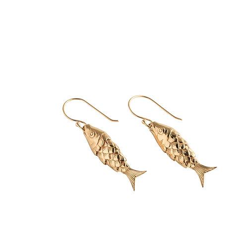 Koi Earrings gold