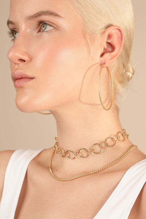 Hoops large gold