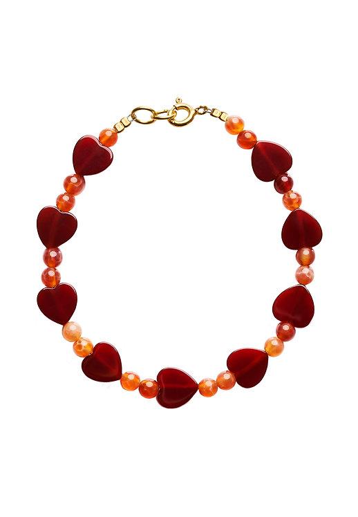 Heart Bracelet red