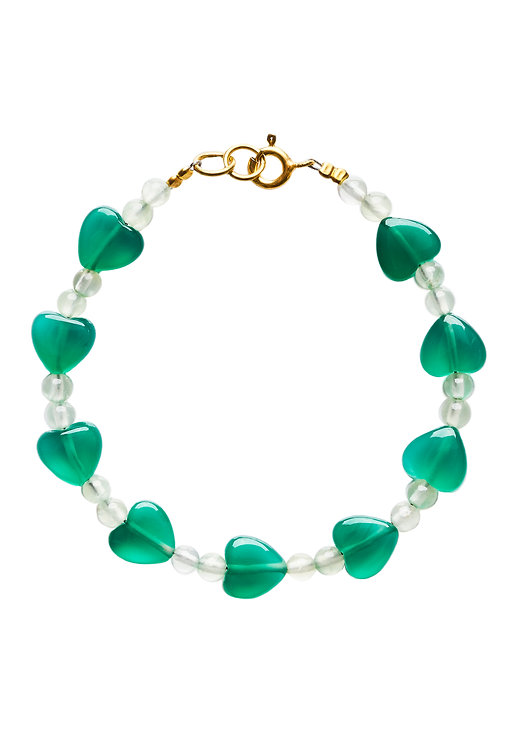 Heart Bracelet green