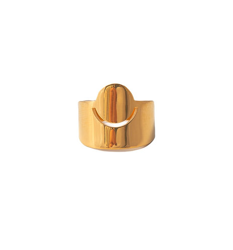 New Moon Ring gold