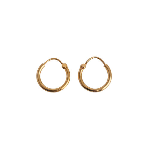 Hoops small gold